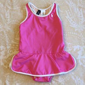 Ralph Lauren Pink Racerback Swimsuit Girls 18M
